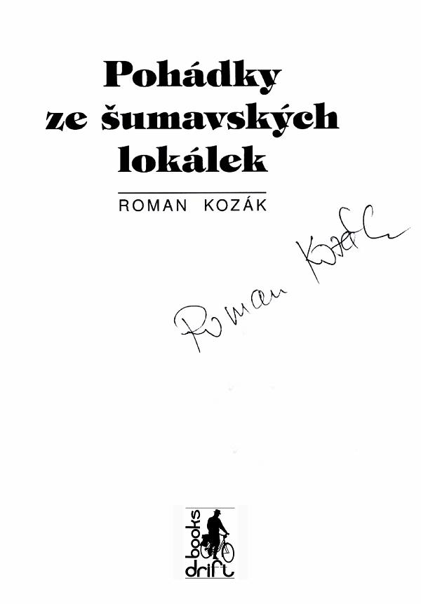 Roman Kozák - Pohádky úvod s podpisem